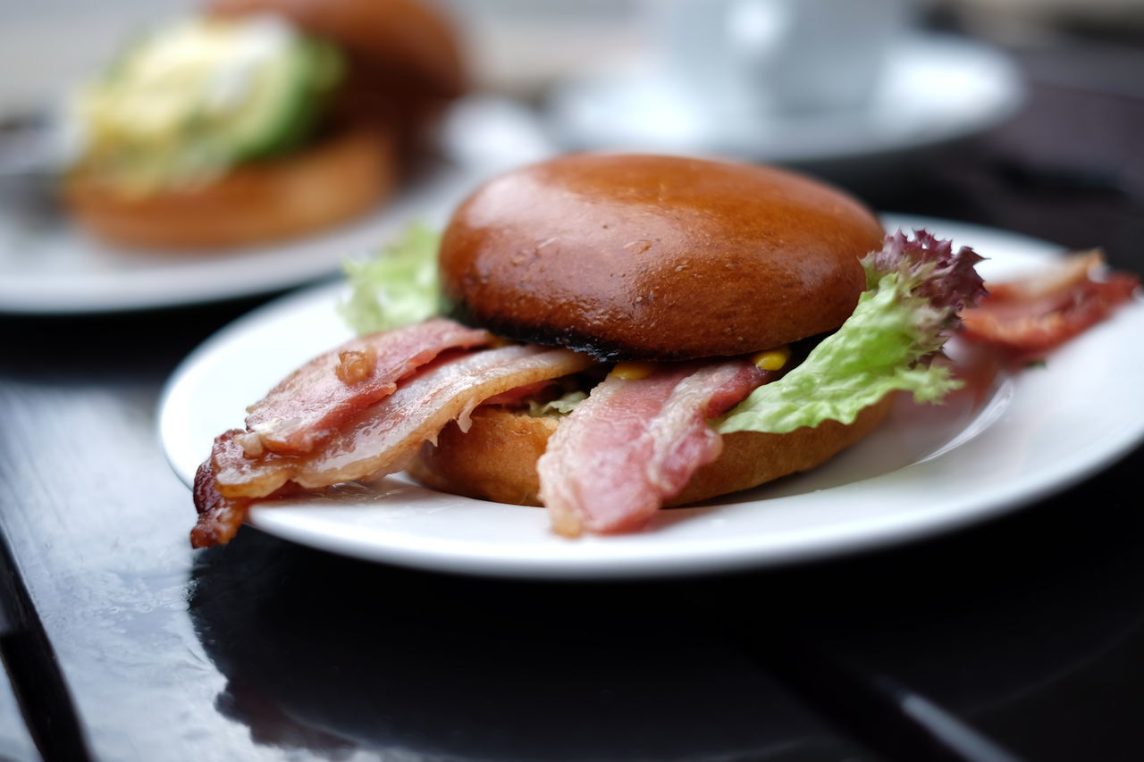 Bacon Close-up Day Food Freshness No People Plate Ready-to-eat Unhealthy Eating