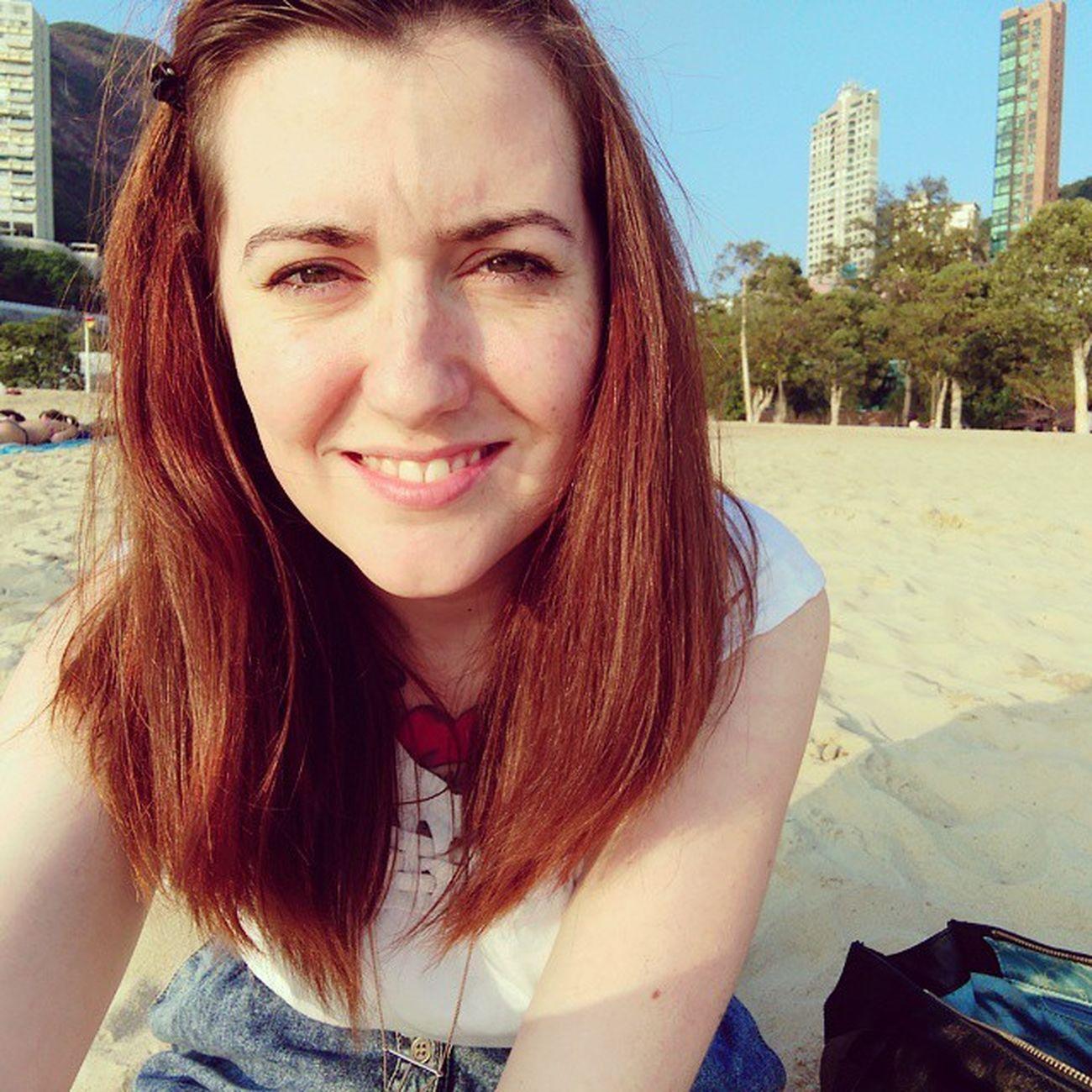 At the beach! Repulsebay Beach HongKong Summertime Happy