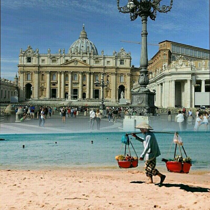Piazza San Pietro Roma Citta Del Vaticano PapaFrancesco  Italia Guardie# Svizzere