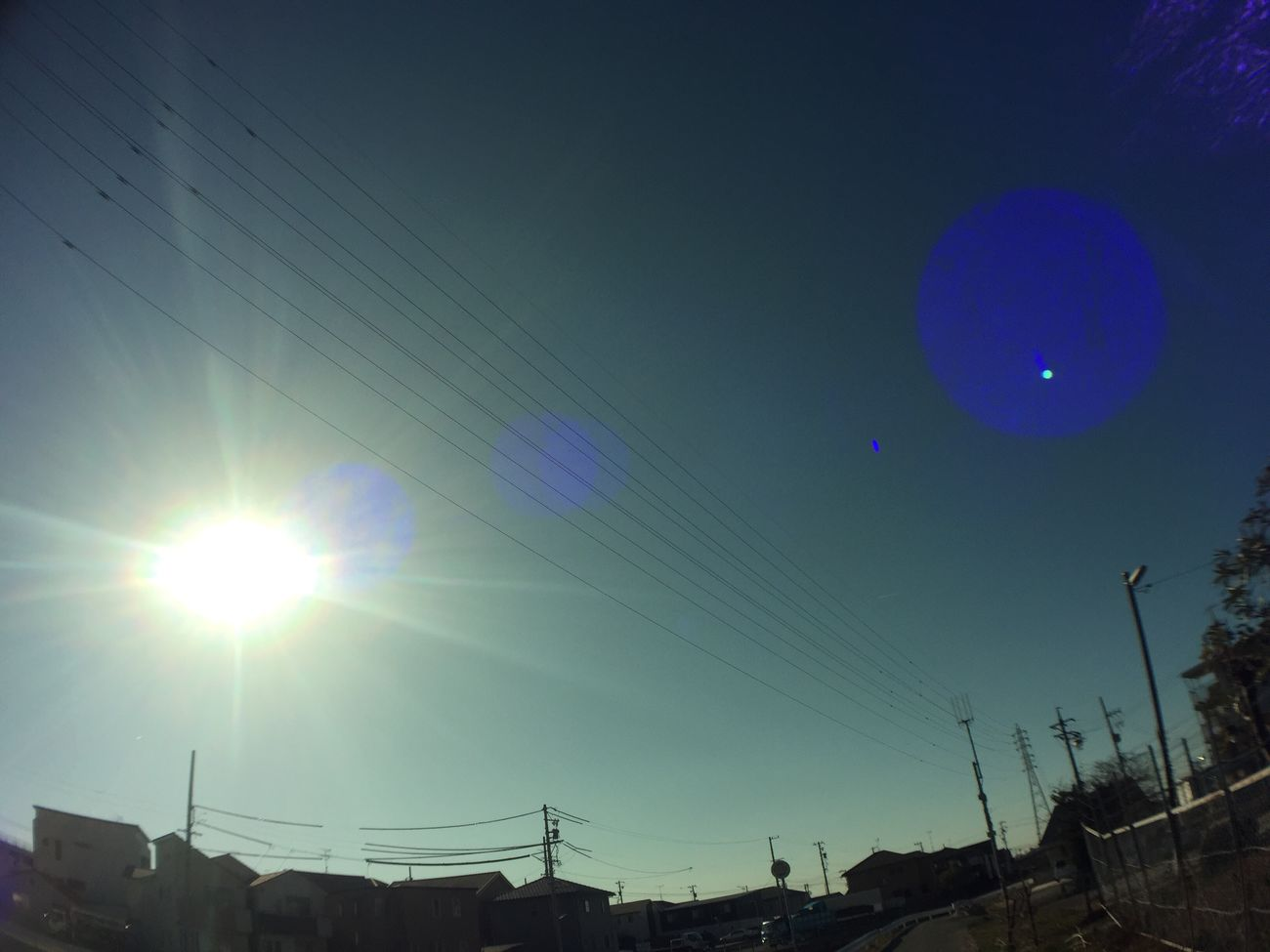 Lens Flare Sun Sunlight Sky Sunbeam 空 太陽 光 電線 Electric Wires