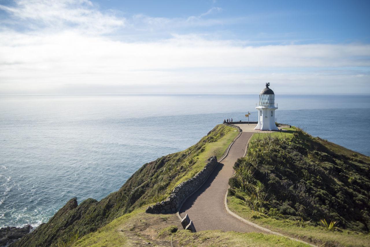Beautiful stock photos of leuchtturm, sea, lighthouse, sky, building exterior