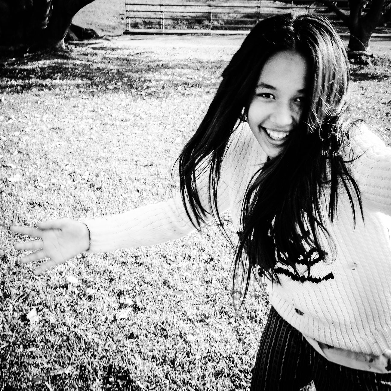 Long Hair Casual Clothing Outdoors Looking At Camera Ricoh Gr Blackandwhite RicohGRII Ricoh Monochrome EyeEm Best Shots Argentina Eye4photography  Family Daughter Cheese! Portrait