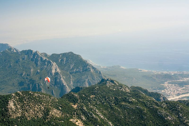 Tahtali Turkey Landscape White Sea 2365m Mountains Travel Antalya Antalya Turkey Mountain View