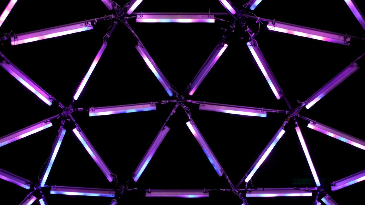 Architecture Backgrounds Built Structure Illuminated Indoors  Neon Night No People Pink Color Premiere Purple Tehno Music Tehnology