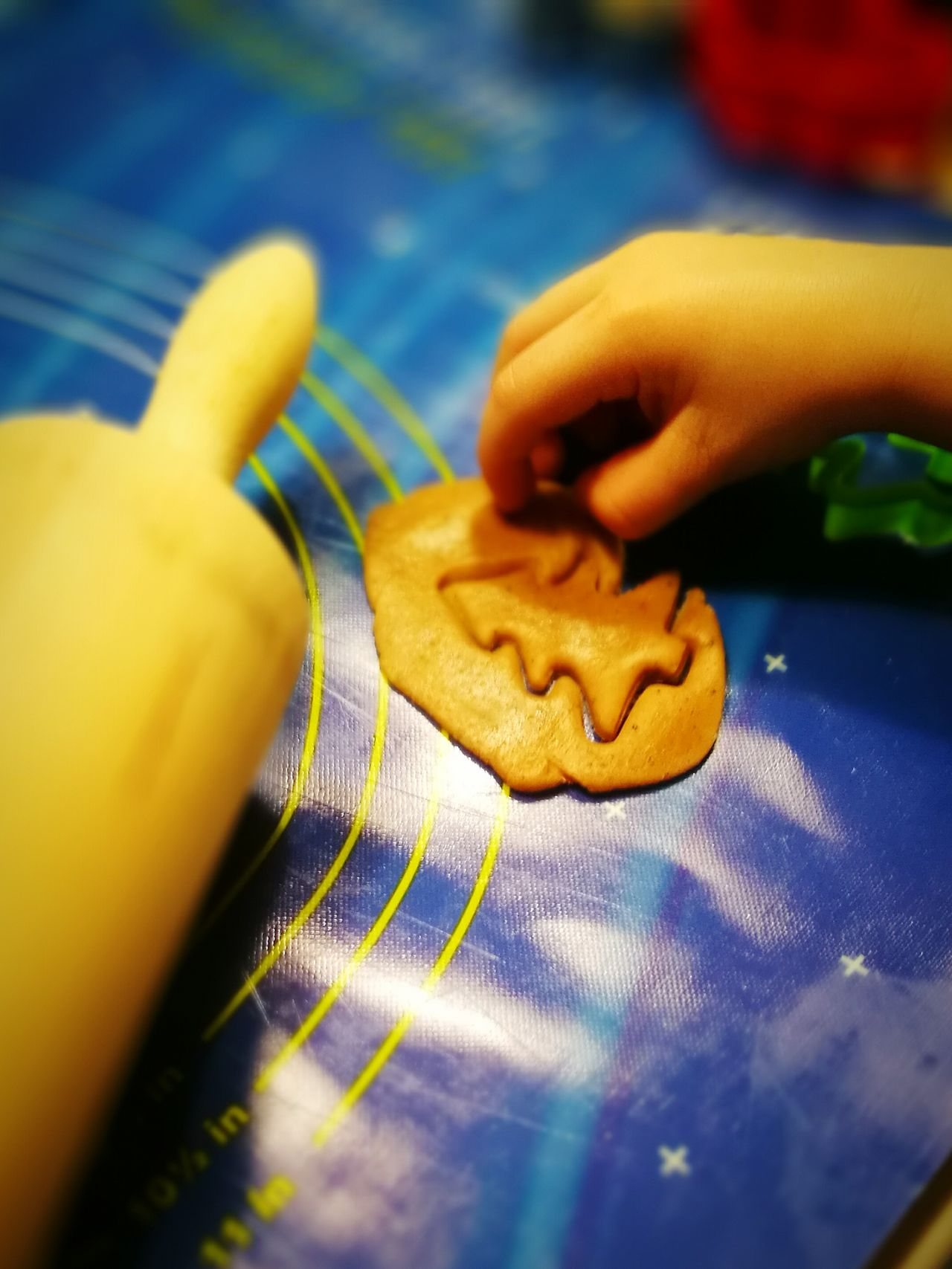 Handmade For You Human Hand Human Body Part Close-up One Person People Baking Cookies Child Fun Time Christmastime With Kids Quality Time