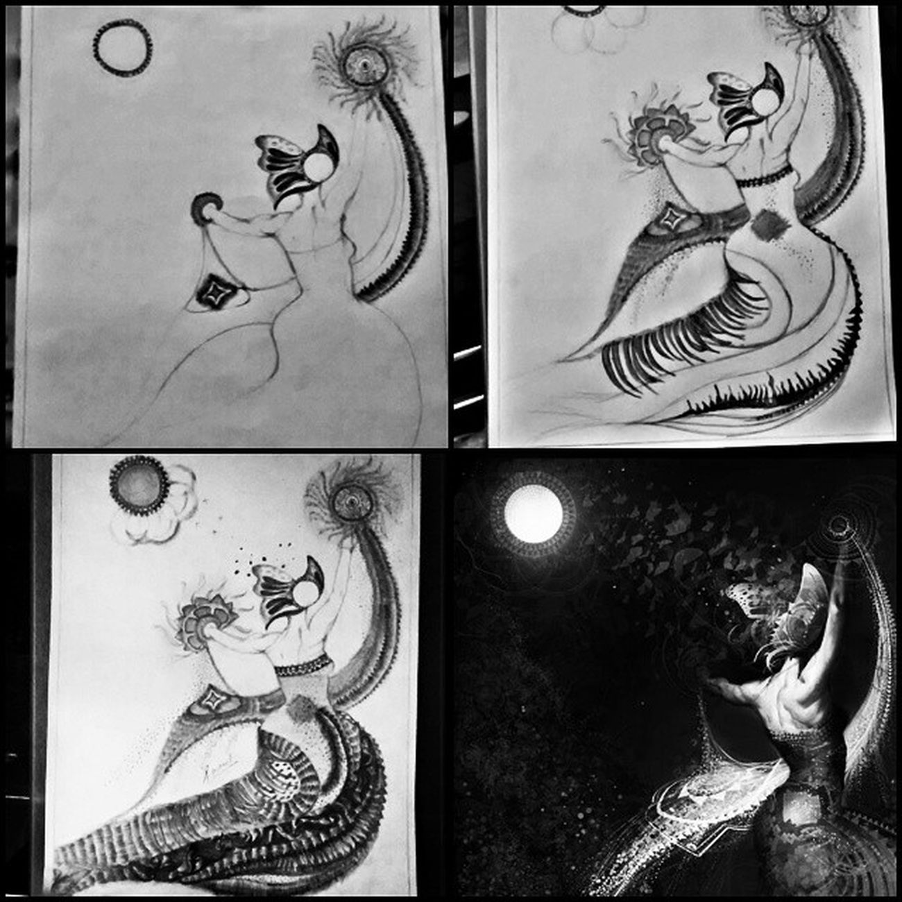 WorkingOnMarmaid Finally Didit LoveSketch art nature blackwhite pencilshade variations thick soft naturesbeauty highlights midtones lowtones justperfect feelings beingcreative stars sparkle simplyawsm instapic instaclick ?