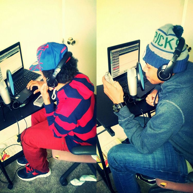 Me and my nigga recording making a track