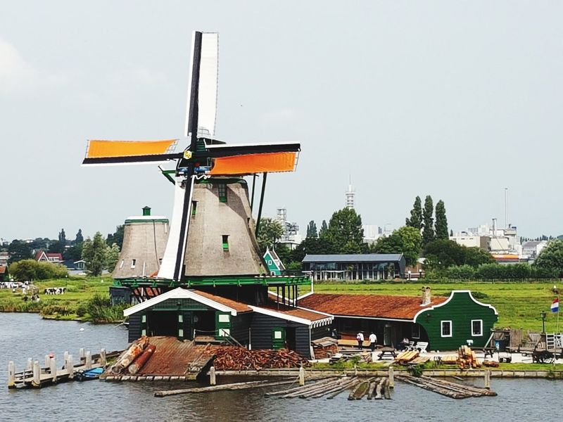 Travelling Travel Photography Zaanse Schans Travel Building Exterior Built Structure Capture The Moment Sky Outdoors Windmill Wind Power