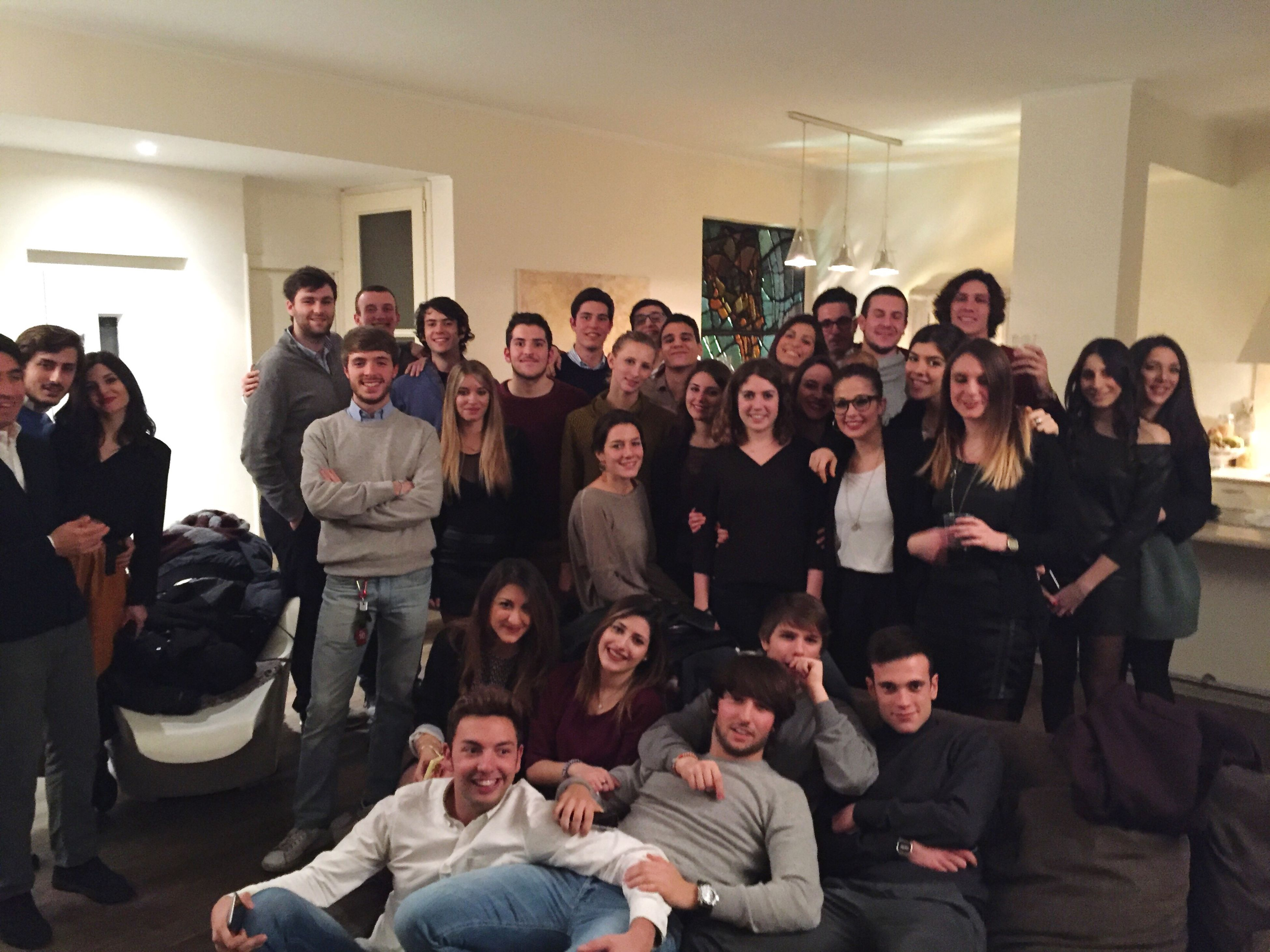 lifestyles, togetherness, leisure activity, large group of people, indoors, men, fun, happiness, friendship, enjoyment, person, crowd, standing, casual clothing, celebration, bonding, portrait, young men