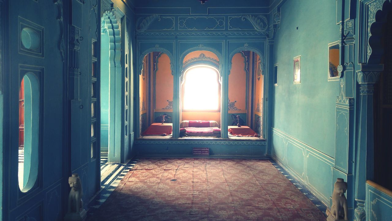 Indoors  Architecture Built Structure History The Way Forward No People Day Wooden Doors Old Fashioned. Summer Old Buildings Incredible India Ancient Travel Photography Archival Old Fort Rustic Style Royal Jharokha Window King Ruler Fortress