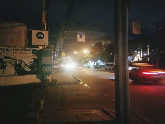 Night Street No People City