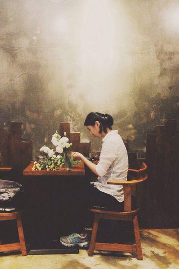 Potrait Coffee Time Flower Ipone