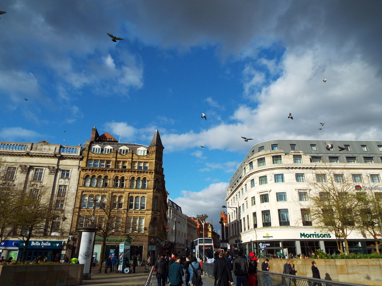 Manchester Piccadilly Gardens Manchester City Centre City Centre City Life City View  Busy City Busy Life Busy People Busy Busy Busy Birds In The City Birds Pigeons Clouds And Sky Blue Wave The Street Photographer - 2016 EyeEm Awards