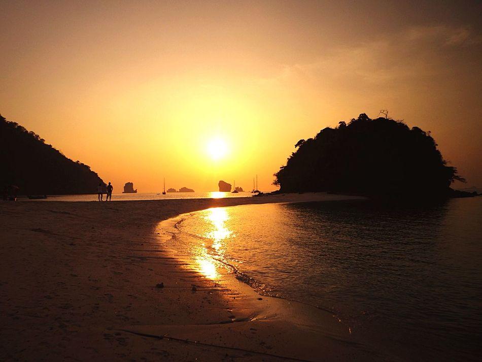 Island hopping in Krabi, Thailand. Being A Beach Bum Thailand Beach Sunset Krabi Traveling Enjoying The Sun