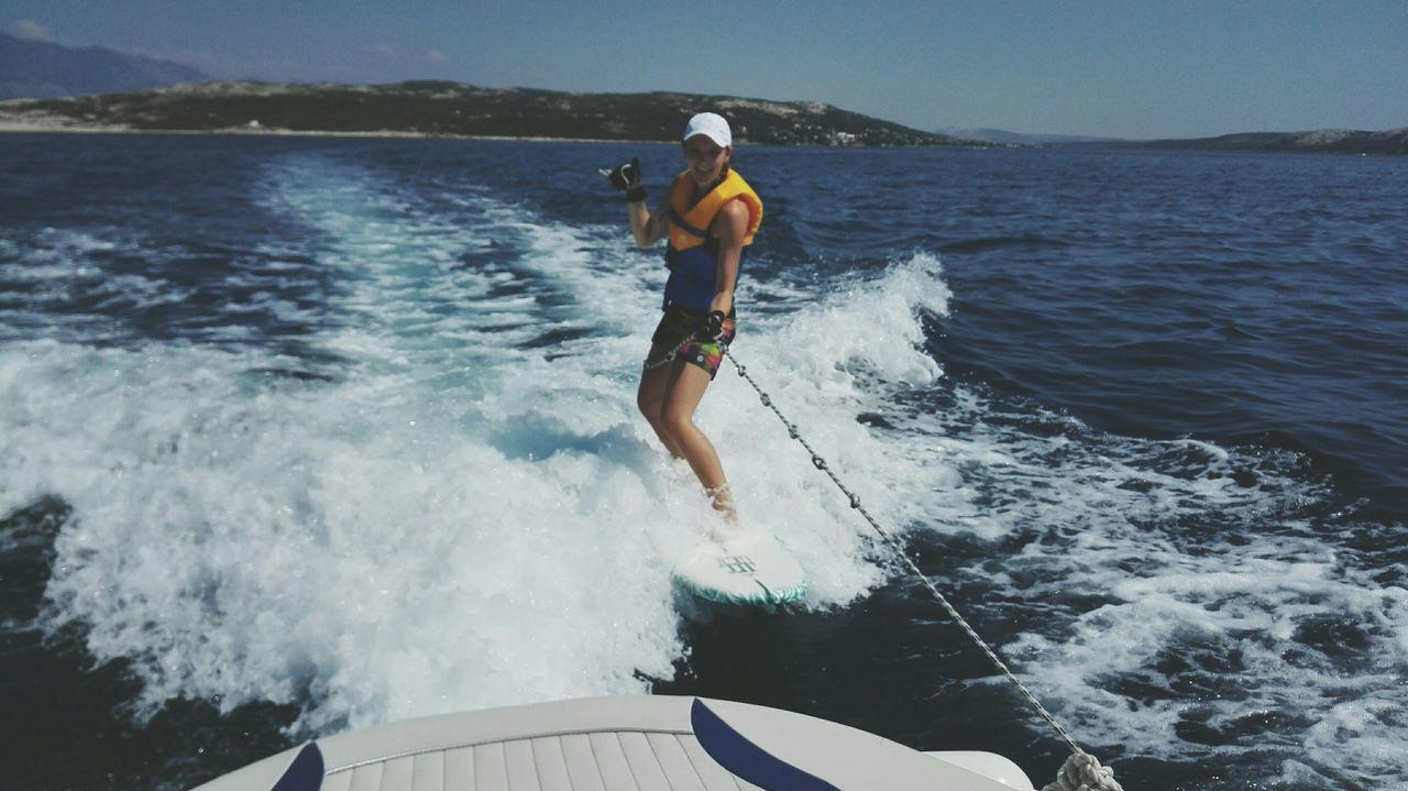 Wakesurfing Surfing Croatia Enjoying Life Taking Photos That's Me Hello World Traveling Sunny Day