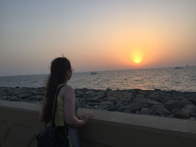 Atlantis Hotel No Filter No Edit/no Filter Sea And Sky Sunset Sea United Arab Emirates