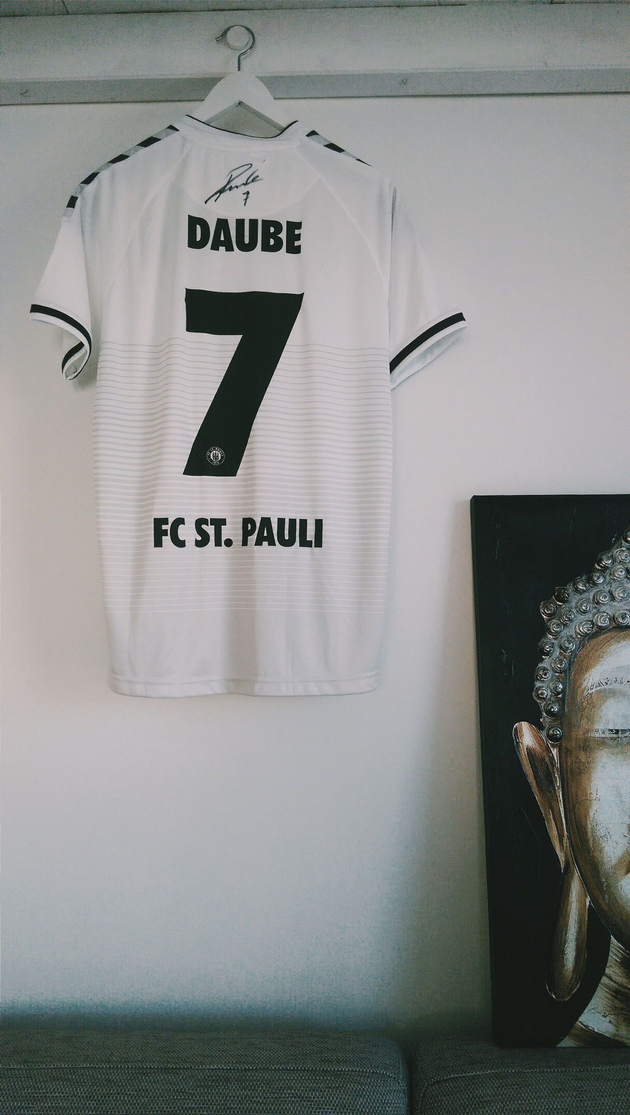 FCSP Fcstpauli 1910 YNWA Daube White Football Sign Stpauli