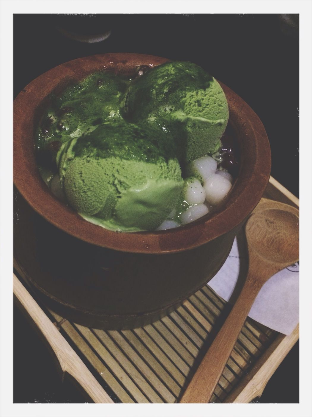 Snack time; more matcha Ice Cream , mochi, shaved ice, and azuki red beans, Food , Enjoying Life with the very best.