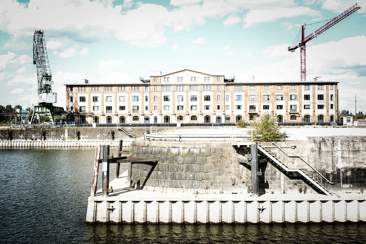 Weinkontor Alter Zollhafen Architecture Bonded Port Building Building Exterior Built Structure Cloud Cloud - Sky Crane Day Exterior Façade Mainz No People Old Bonded Port Outdoors Port Rhine Sky Weinkontor Wine Trade