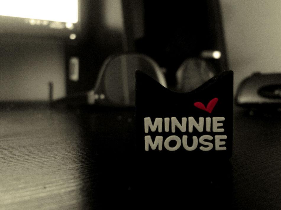 Close-up Communication Day Illuminated Indoors  Minnie Minnie Mouse No People Ofice Sephia Text USB