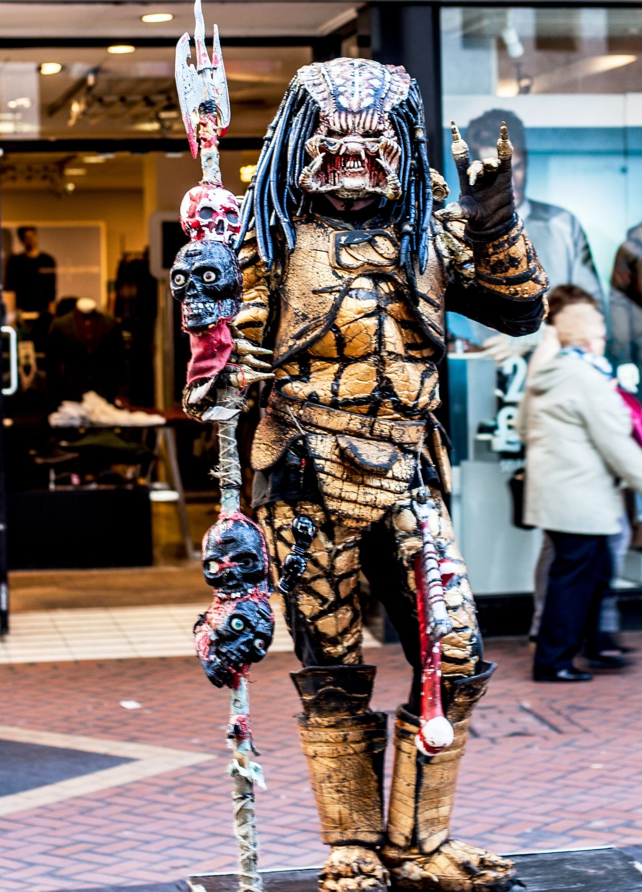 Street Performer - Birmingham Alien Animal Representation Art Creativity Human Representation Inspired By Movies Portrait Sculpture Street Performer
