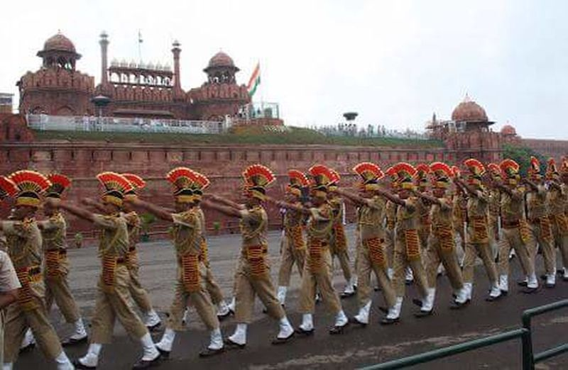 Parade In Lal Quila Fort