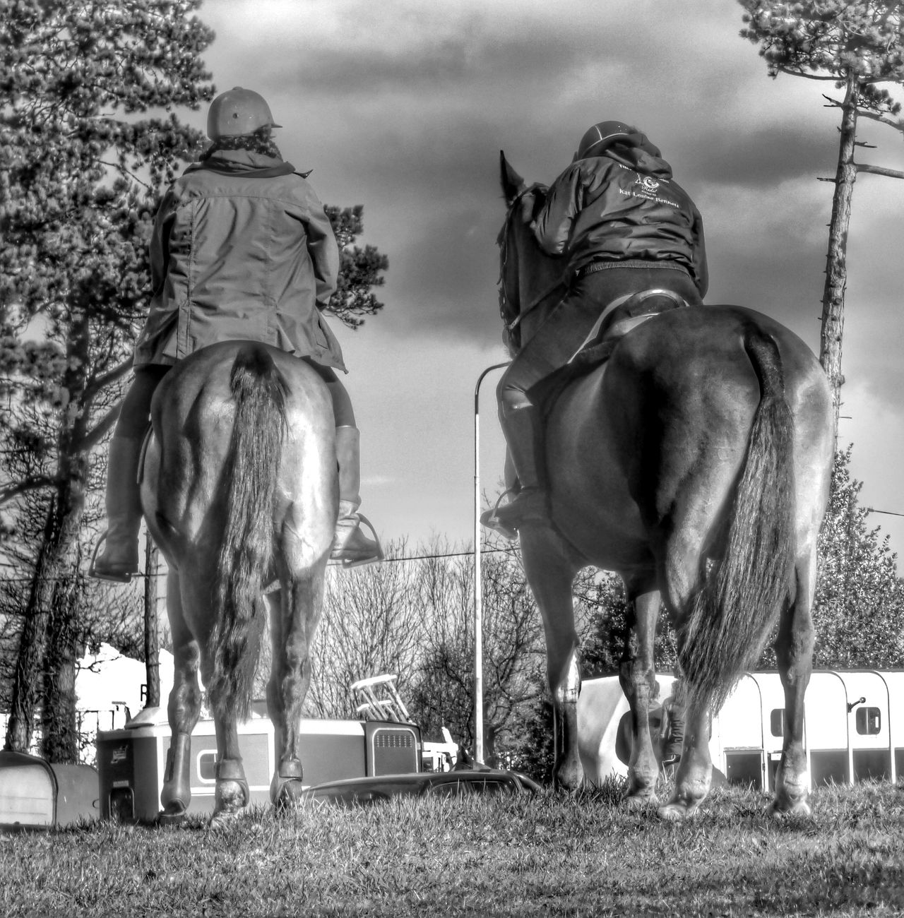 The Hunt // Animal Themes Black And White Blackandwhite Cheshire Creativity Domestic Animals EyeEm Nature Lover Field Field Grass HDR Horse Horses Hunt Ladies Riding Sky Standing Standing Stock Image Stock Photo Taking Photos Trotting Two Animals Women