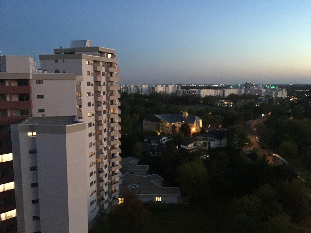 Mv Märkisches Viertel Skyscraper Plattenbau View From Above Night Lights