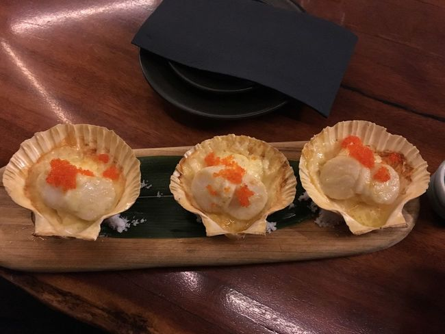 Scallop Japanese Food Japan Yummy Cheese Rice Seafoods