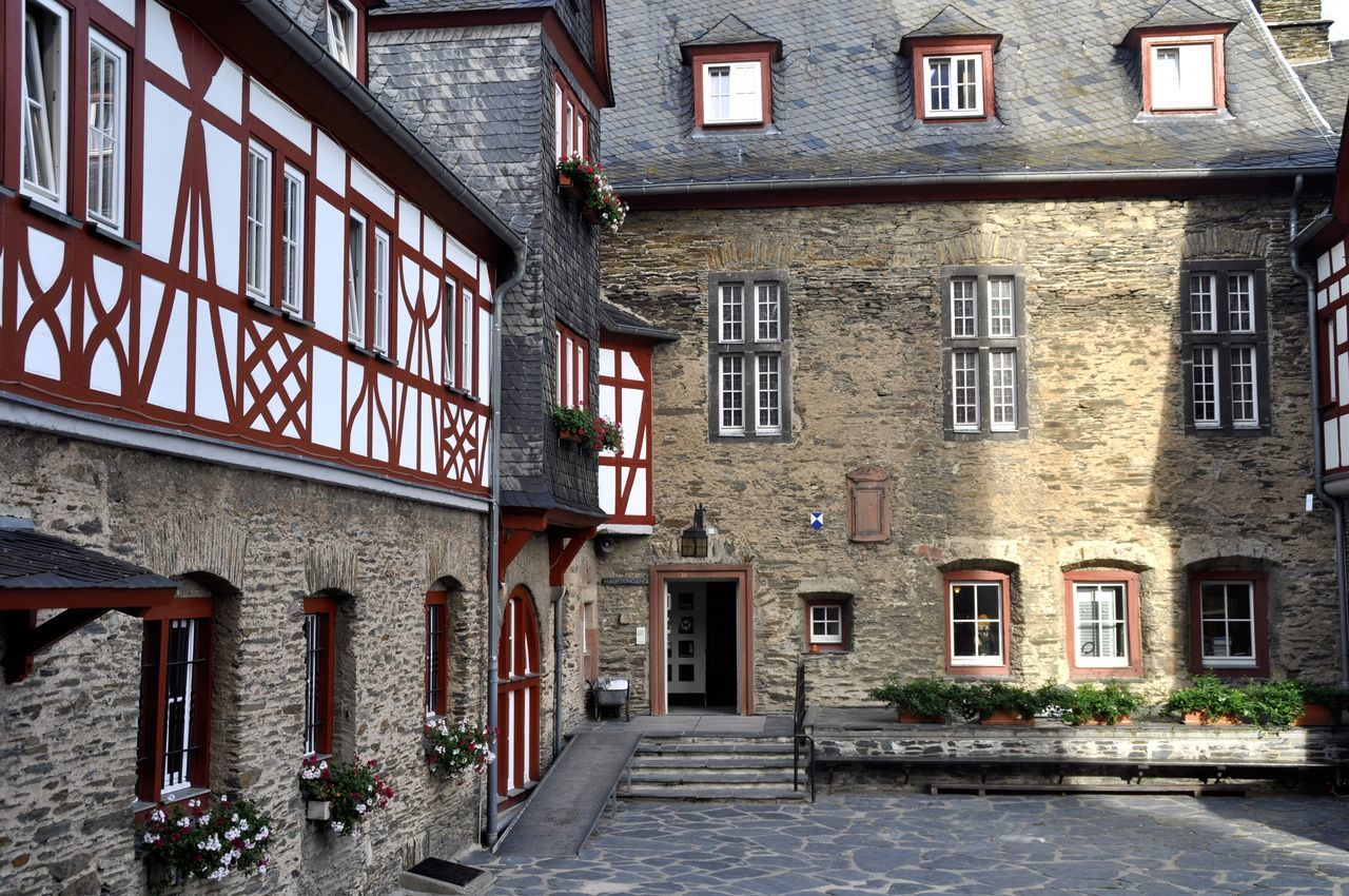 Architecture Blue Sky Building Building Exterior Built Structure Burg Stahleck Façade Germany Historical Historical Building Historical Monument Historical Place Rheintal  Steps Steps And Staircases Sunny Wittelsbacher