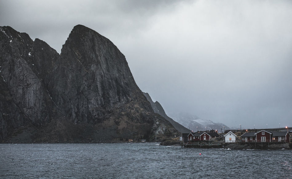 Hamnoy Lofoten Islands Winter Colors Lofoten Islands Norway Reine Scandinavia Winter Beauty In Nature Day Grey Hamnøy Lofoten Mountain Mountain Range Mountains Nature Nautical Vessel No People Outdoors Physical Geography Scenics Sea Sky Tranquility Transportation Water Waterfront