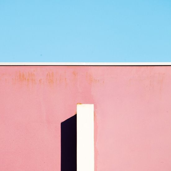 Abstract Sunny Day Urban Urban Geometry Colors Minimal Minimalism Photography Façade Architecture Sky Light And Shadow Brest
