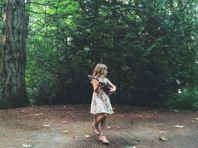 Hidden Gems  Childhood Children's Portraits Ukelele Woods Forest Nature Washington Kitsap Peninsula State Park