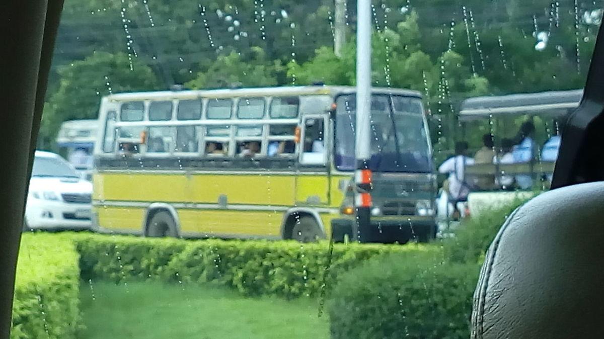Transportation People Transport Schoolbus Rainy Days Rainy Season Rainy Days☔ School Life
