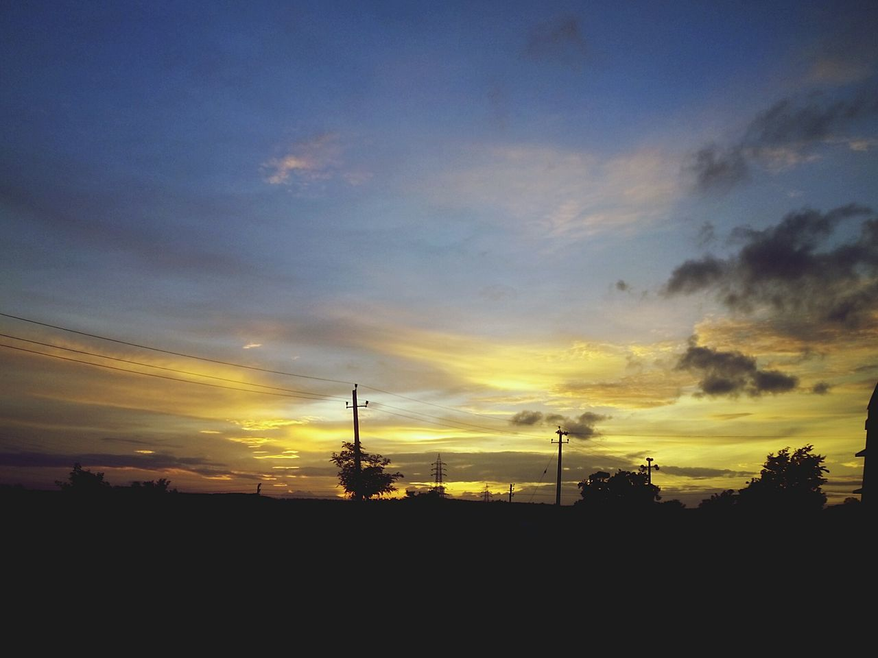 Sunset Tree Sky Beauty In Nature mobile click