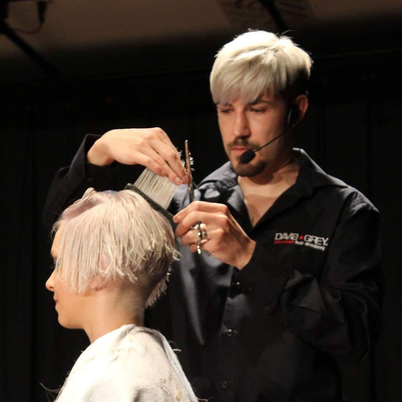 Hairdresser Blond Hair Cutting Haircut Cutting Hair Hair Hairstyle Haircolor Hairdressing Haircolour Hairtrends Hair Salon Education Educator Working