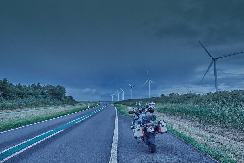 Wind Turbine Alternative Energy Wind Power Landscape Sky Motorrad Motorcycle Photography BMWMotorrad Bmwmotorsport Endurobike Nature Motorsportphotography Outdoors Motorbike Motorcycles Motor Bike Motorcycle BMW Motorrad Adventure Enduro Bmw Motorcycle BMW R1200GS GSW