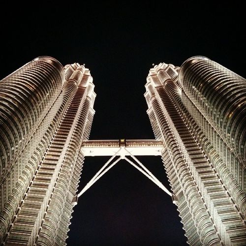 Taken last night. Kuala Lumpur - Malaysia. Exploremalaysia Kualalumpur Kl Travelkl Travelkualalumpur Petronas Petronastwintowers Twintowers Travel Backpacking Goasia Travelasia Buildings