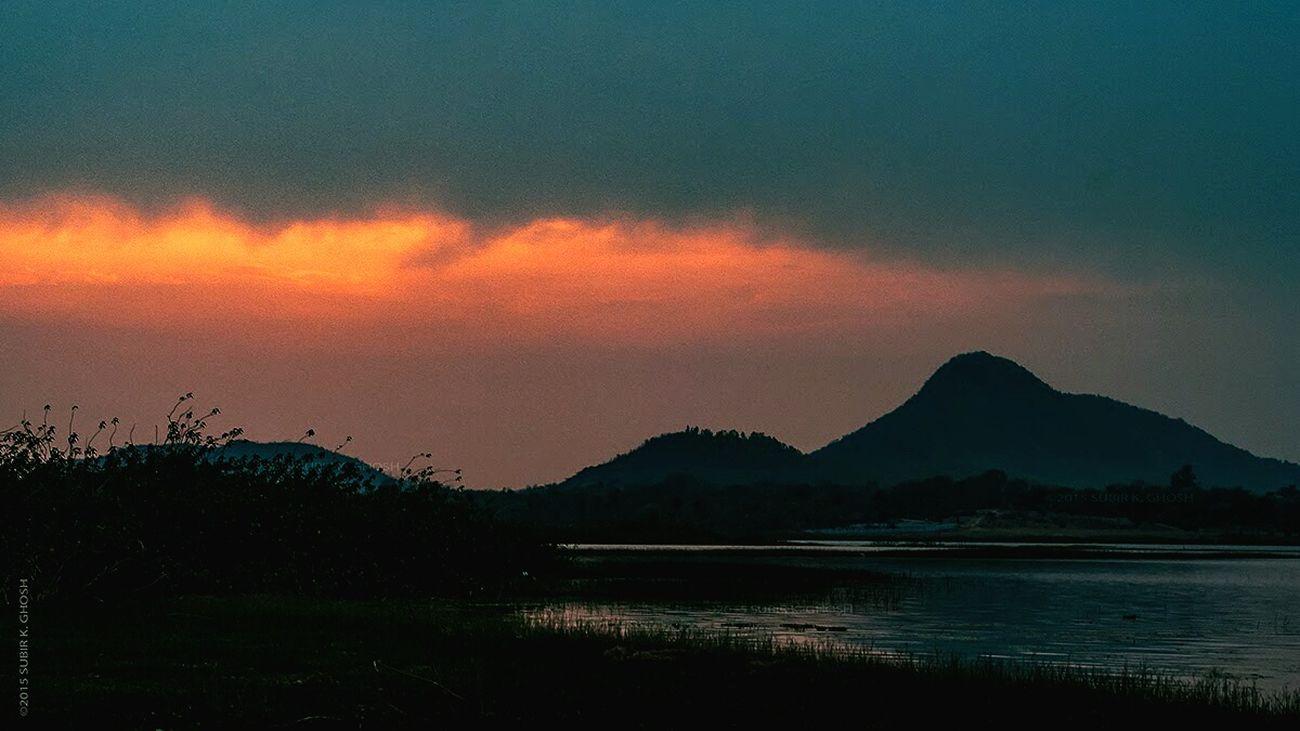 A Sunset at Muradi lake in Purulia , WestBengal . Nilmutant Subir Incredible India Incrediblebengal Landscape The Traveler - 2015 EyeEm Awards