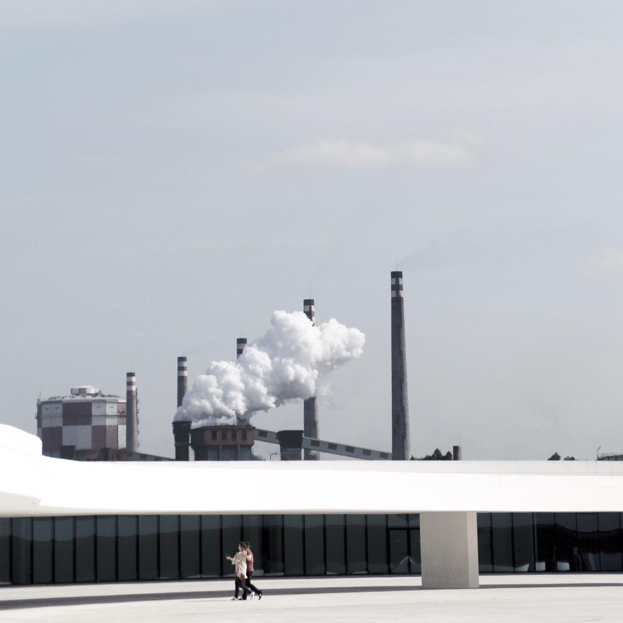 Arquitecture Factory Industry Minimalism Air Pollution Cloud - Sky Landscape Niemeyer