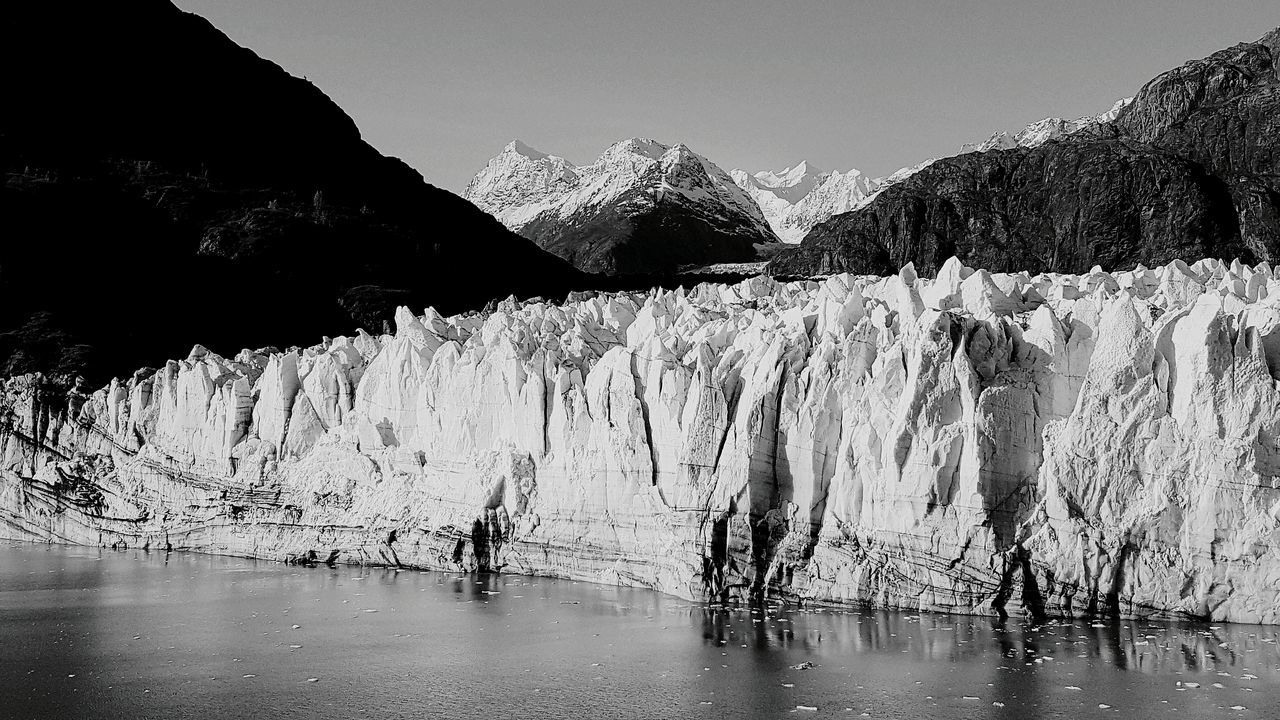 mountain, ice, nature, glacier, landscape, glacial, global warming, scenery, steep, height, day, range, outdoors, no people