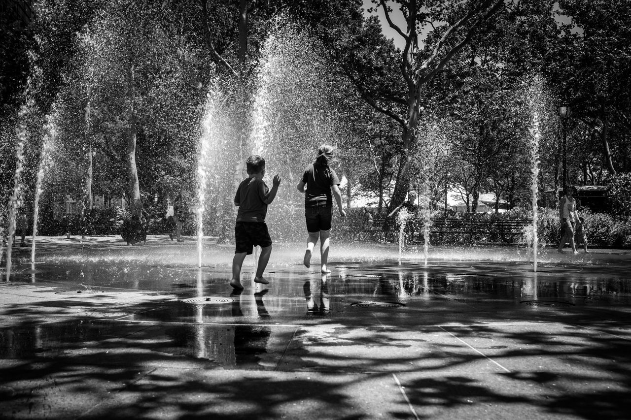 Darkness And Light Water Two People Real People Motion Outdoors Leisure Activity Childhood EyeEmBestPics EyeEm Gallery Bw_lover Black & White Black And White Bw_collection Blackandwhite Getting Inspired Eye4photography  EyeEm Canon Blackandwhite Photography BW_photography The Street Photographer - 2017 EyeEm Awards New York New York City