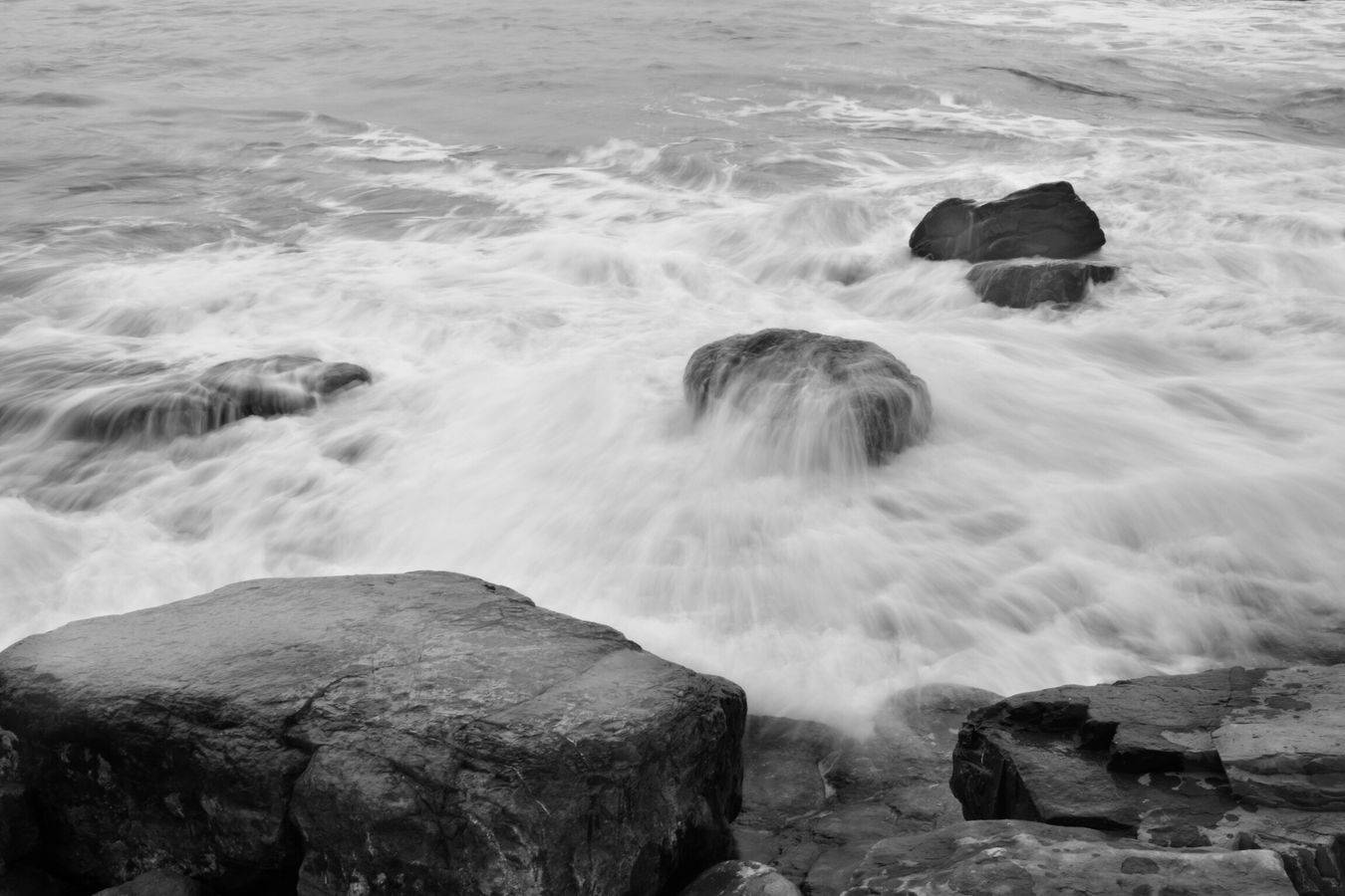 Wales Nash Point Sea Seascape Wave Waves Water Motion Blur Slow Slow Shutter Blackandwhite Black And White