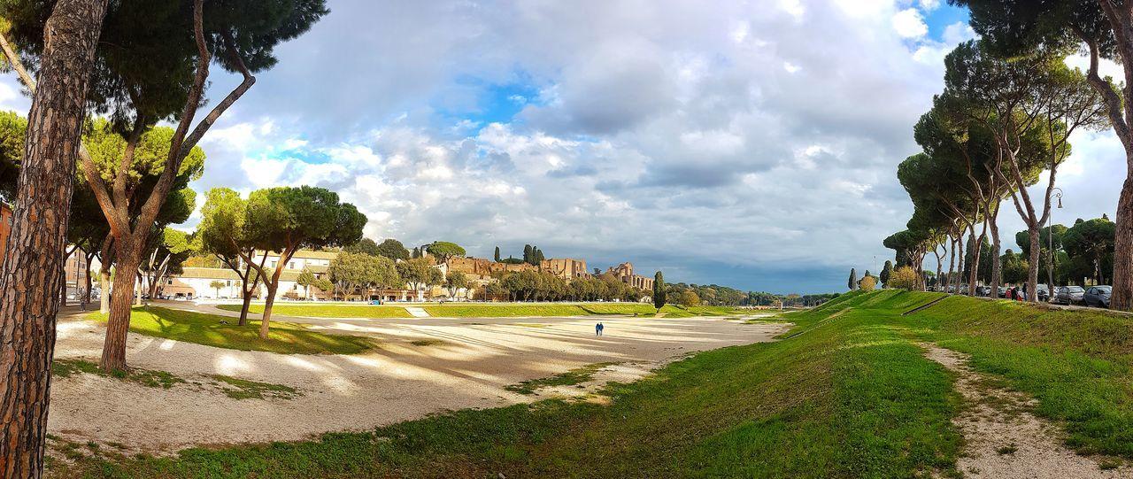 Circo Massimo Panoramic Photography Cloud - Sky Sky Ancient Civilization Tree Outdoors