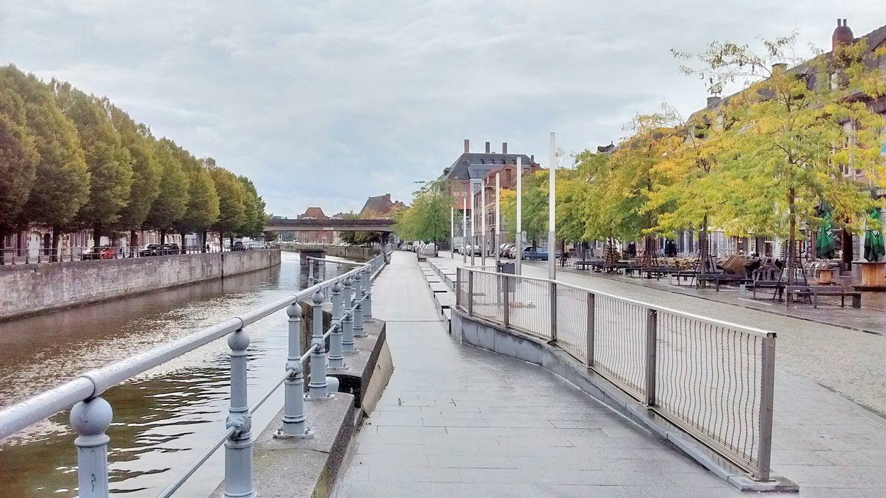 Tree Railing Architecture Built Structure Bridge - Man Made Structure Water Bridge City Narrow City Life Tournai