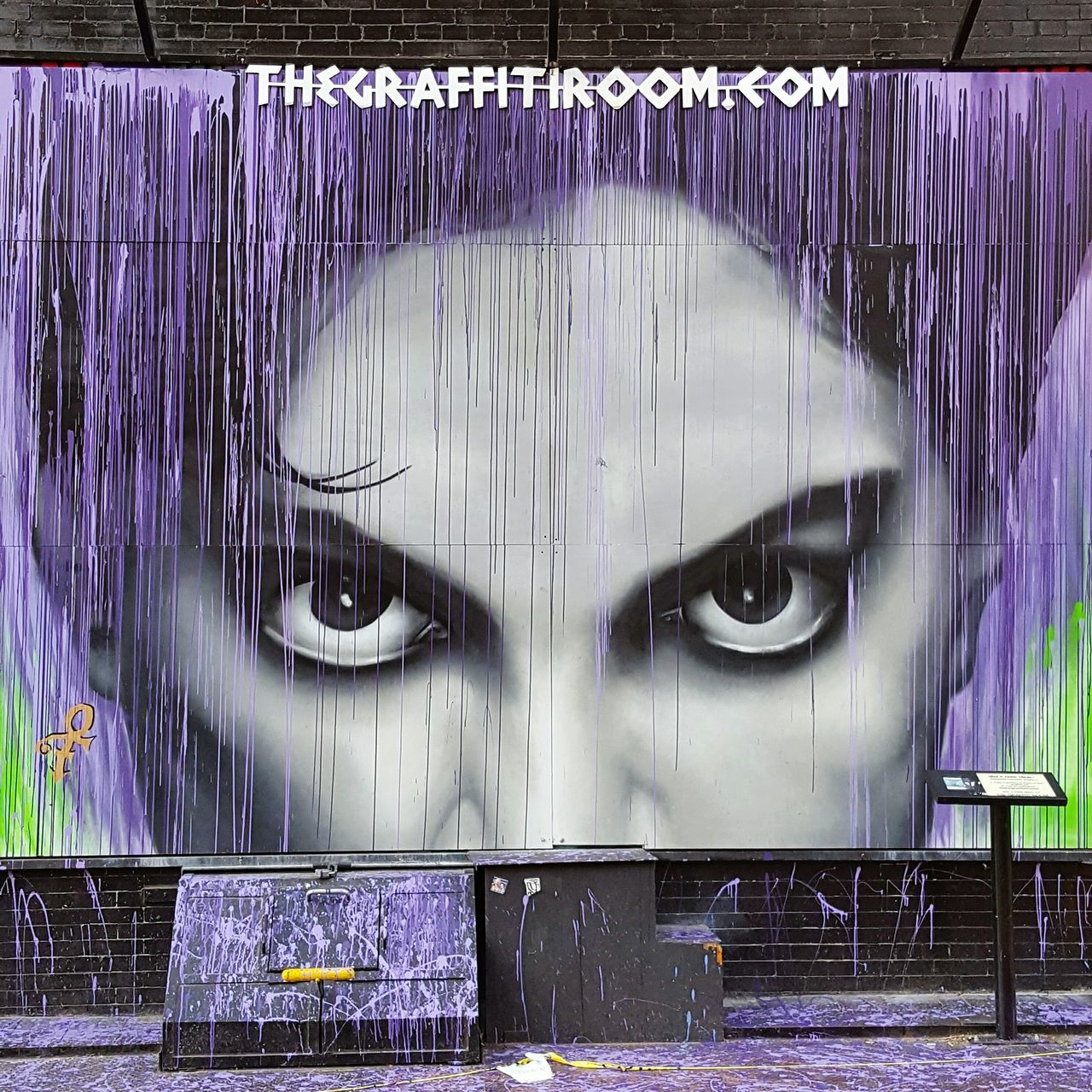 Beautiful NYC tribute to Prince 💜 Shootermag Check This Out EyeEm Gallery Taking Photos Prince  Rip Streetart/graffiti Streetart StreetArtEverywhere Art Art, Drawing, Creativity Artist Purple Legend EyeEm Best Shots EyeEm
