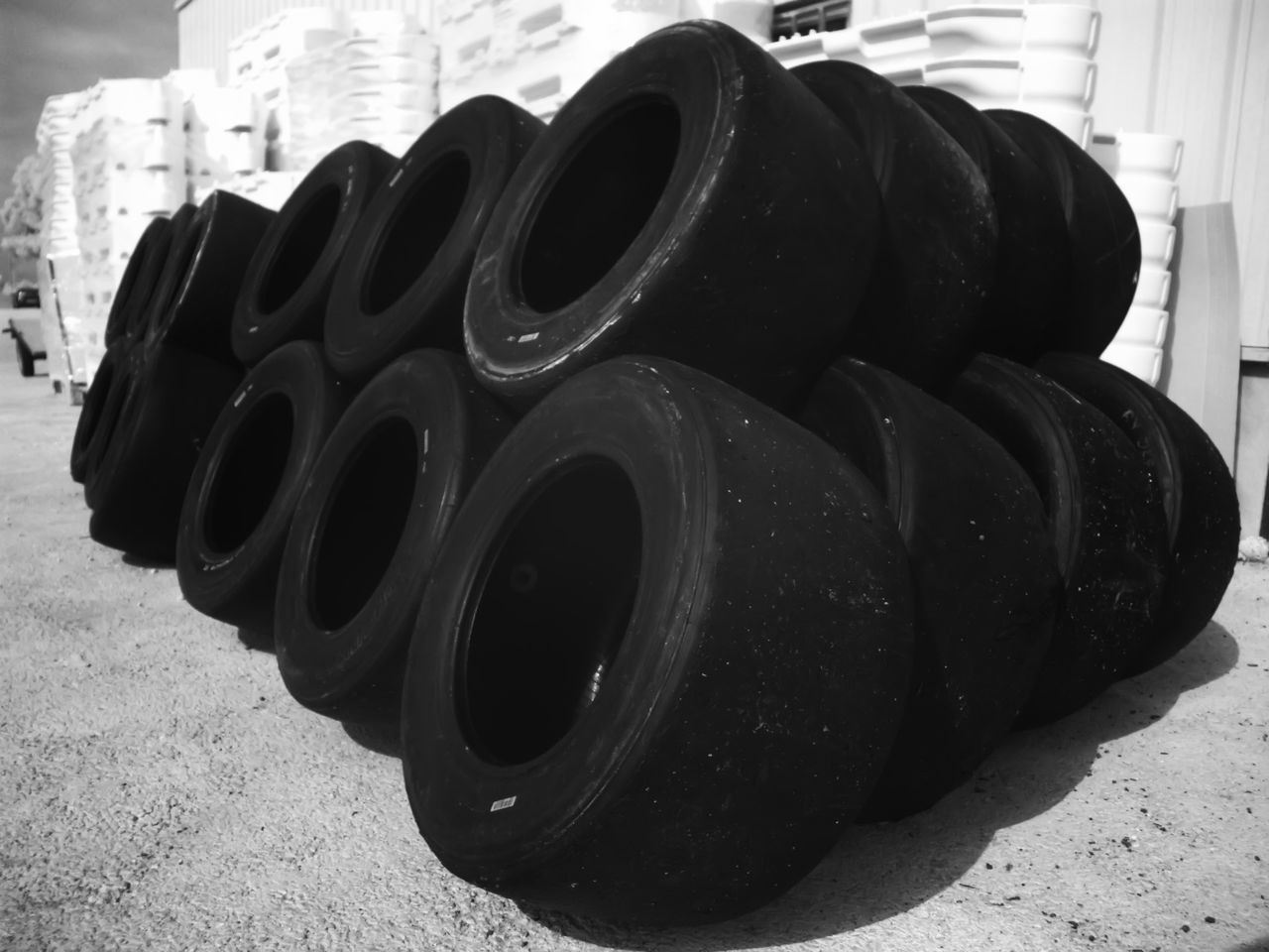 Black Color Car Wheels Chemical Products Close-up Contamination Day Focus On Foreground Machine Part Metallic No People Old Outdoors Protect The Environment Protect The Environment Recycling Warehouse Worn Car Tires Recycling ındustry