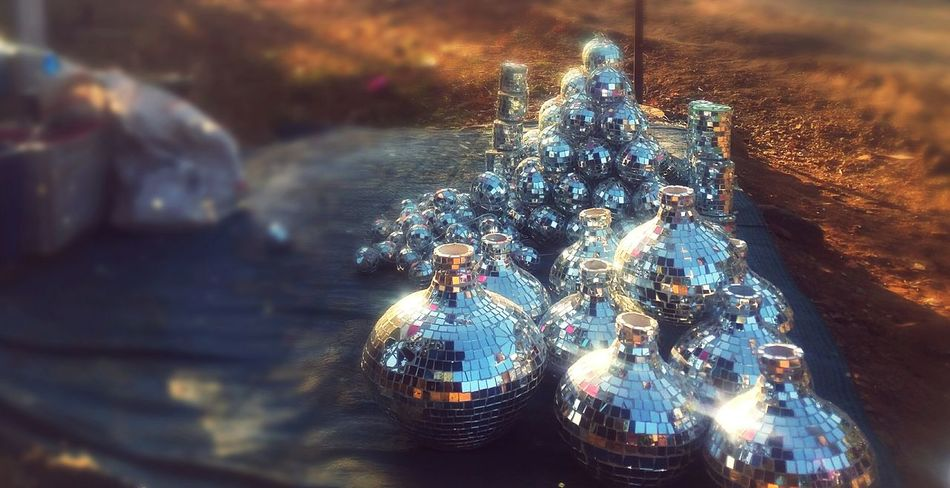 Shiny Outdoors Illuminated No People Close-up Edited My Way Edited This Myself Mobile Photography Outdoor Photography Large Group Of Objects Outdoors❤ Market For Sale Roadside Shots Christmas Ornament Christmas Decoration Outdoorlife