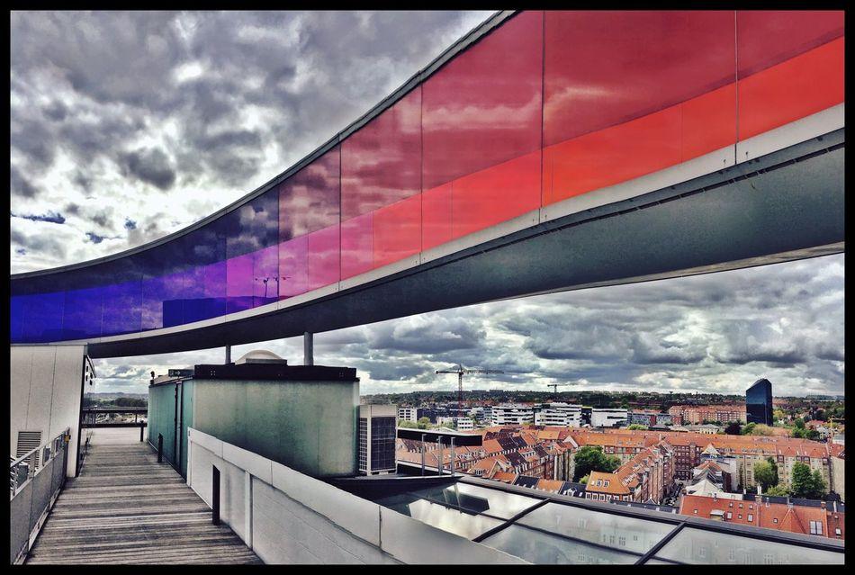 Enjoying The View Museum Of Modern Art Aarhus Panorama Clouds And Sky
