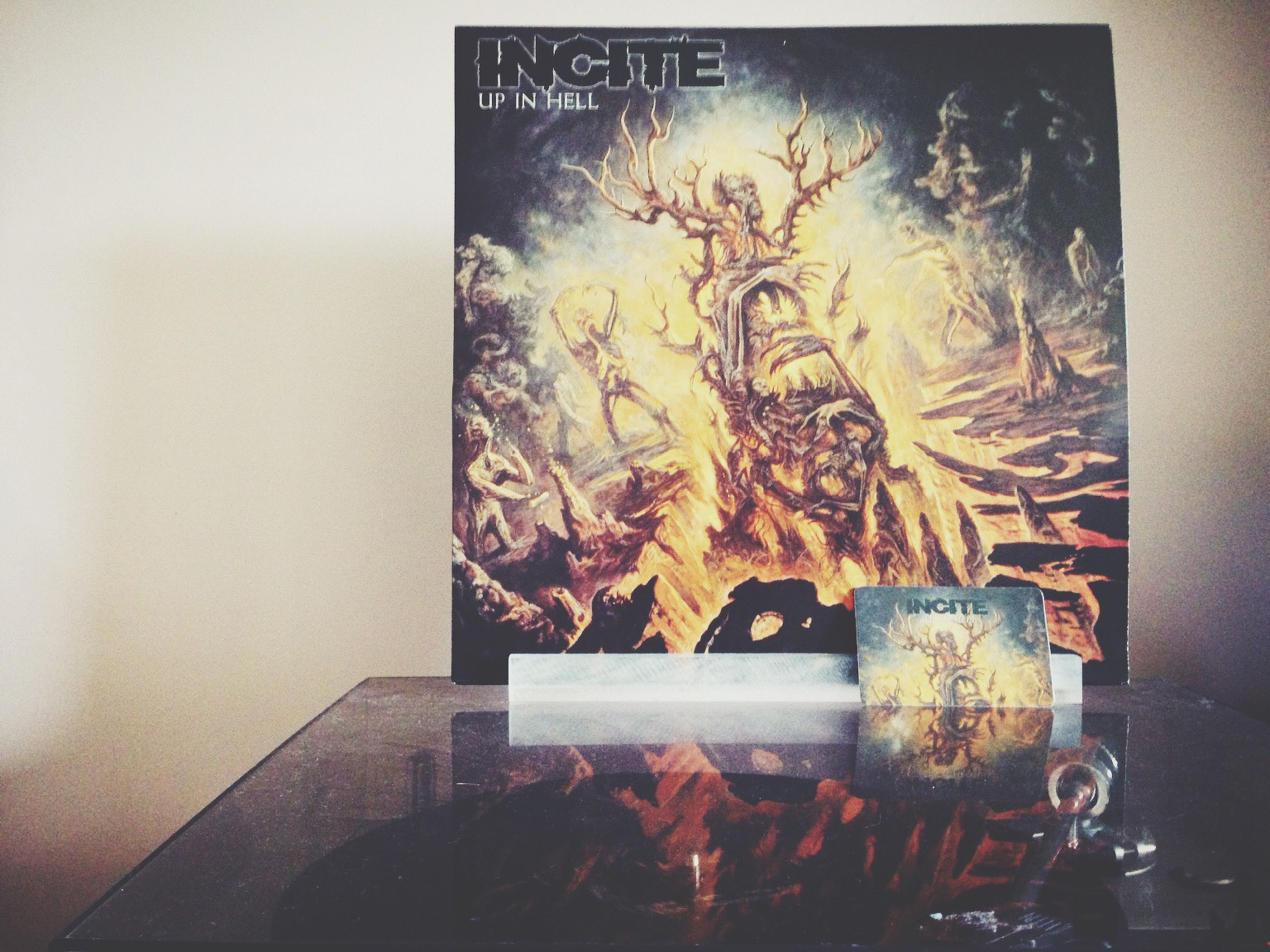 After a long wait my Incite record 'Up In Hell' finally arrived today. Playing it now. Freakin eargasm! Listening To Music Taking Photos Music Incite Vinyl Metalhead Metal